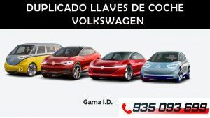 Duplicado y Copia llaves de coche Volkswagen