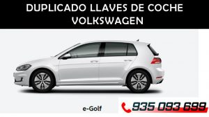 Copia de llaves coche Volkswagen Golf